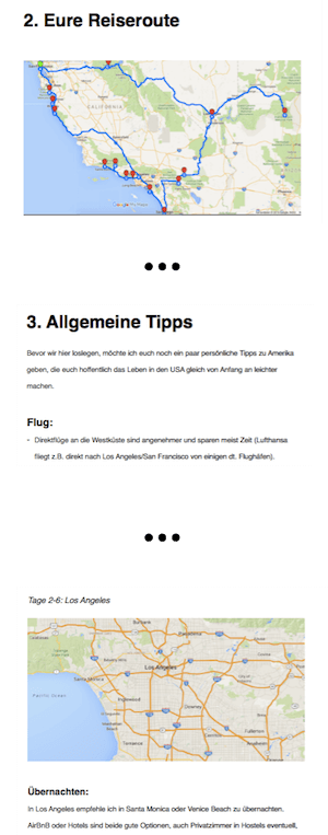 Reiseführer Screenshot